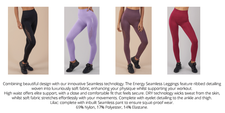 107846091e4b9d Across the Gymshark athlete table, every single girl looks amazing in these  leggings! My personal favourite is the purple wash colour – ugh talk about  ...
