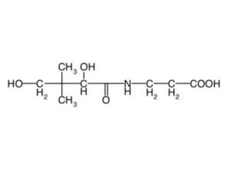 struttura molecolare dell'acido pantotenico