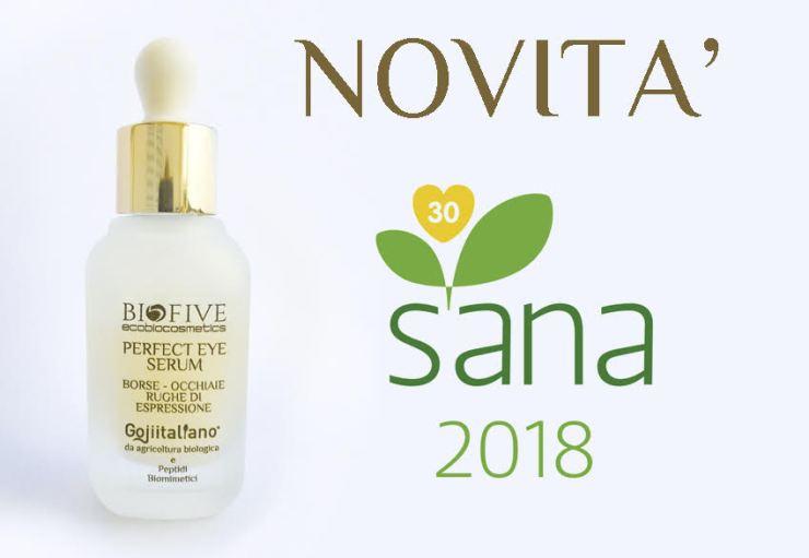 novità sana 2018 biofive: perfect eye serum biofive per borse, occhiaie e rughe di espressione