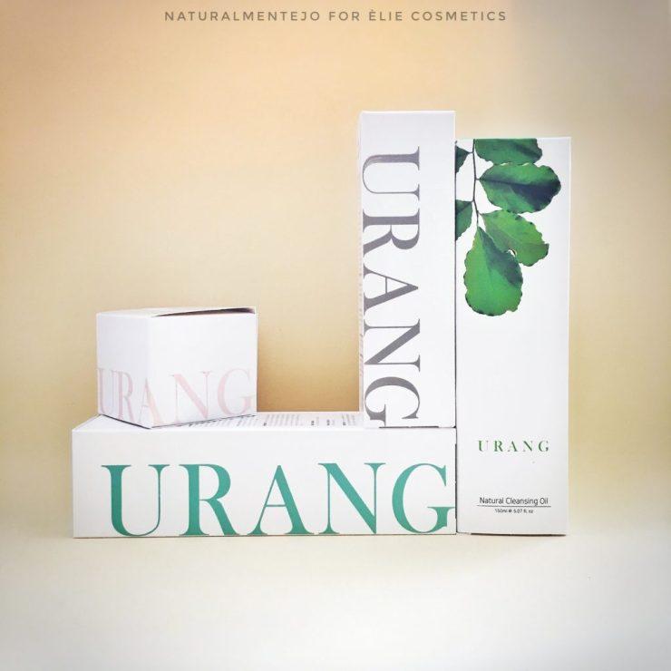 panoramica referenze urang: crema viso, olio detergente, mousse viso e mist