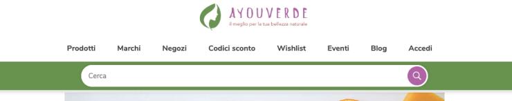 screen 1 - barra di ricerca ayouverde