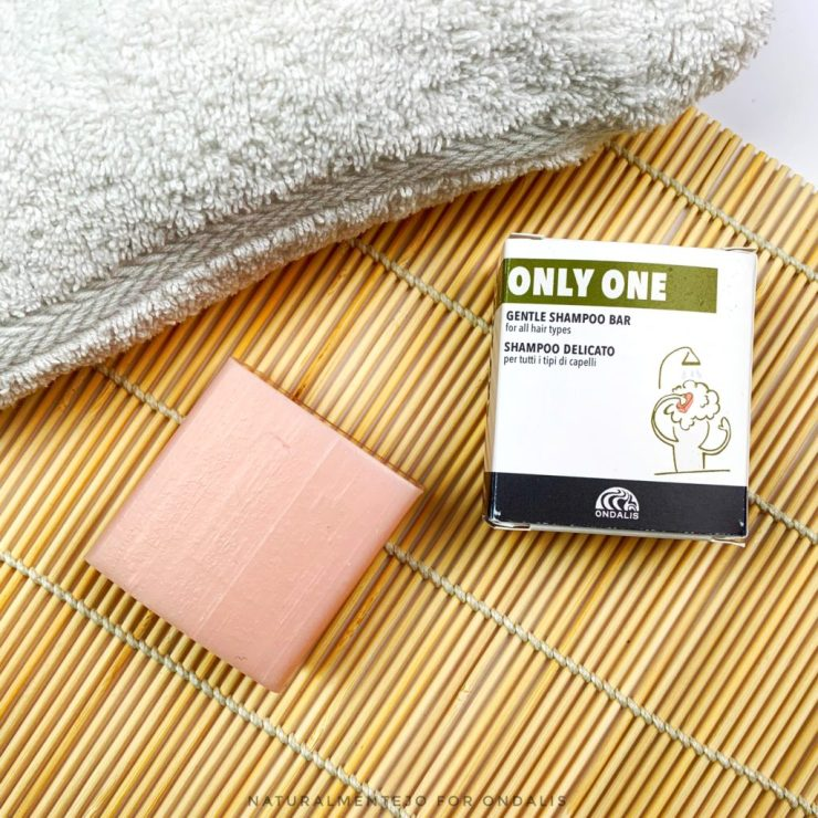 ONLY ONE ondalis, shampoo solido delicato color rosa quarzo