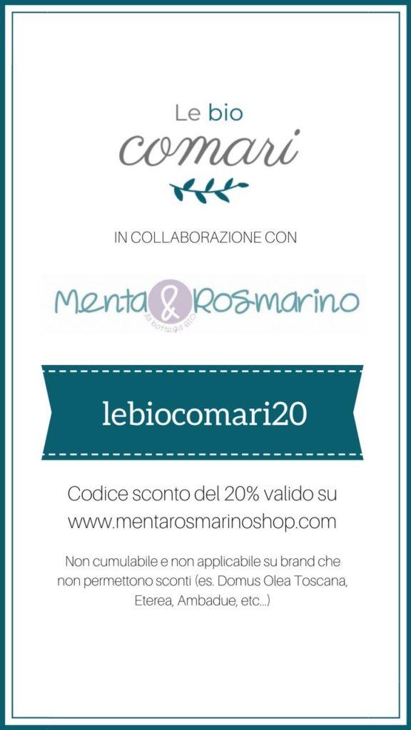 Codice sconto 20% su menta e rosmarino: lebiocomari20