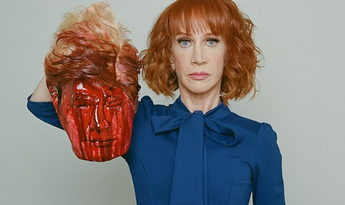 Image: Kathy Griffin sums up the deranged, violent, lunatic Left with video of the bloody, decapitated head of President Trump