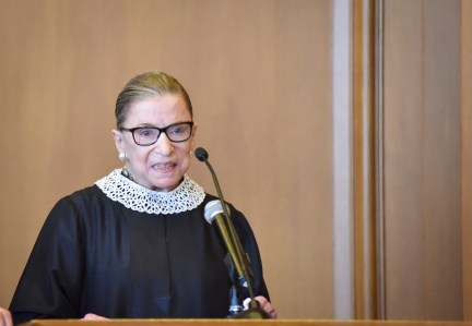 """Image: Ruth Bader Ginsburg """"will retire from the U.S. Supreme Court in January, 2019"""" says same news source that accurately reported her cancer"""