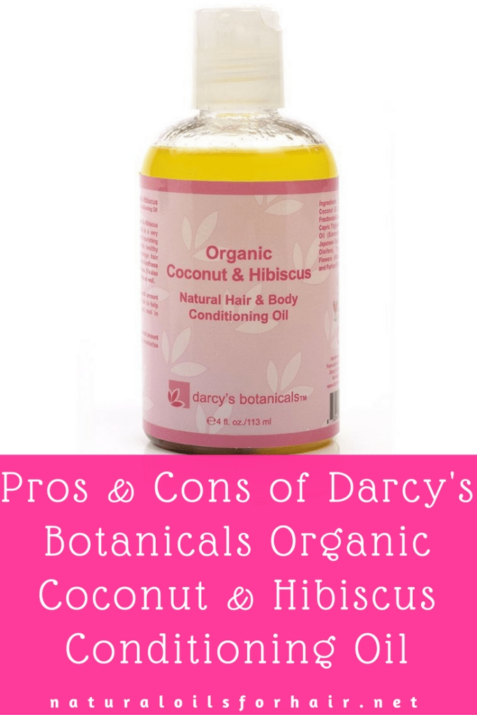 Pros and cons of Darcy's Botanicals Organic Coconut & Hibiscus Conditioning Oil