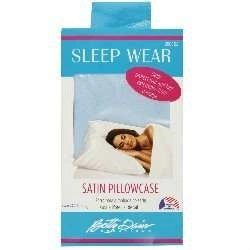 Betty Dain Blue Satin Pillowcases