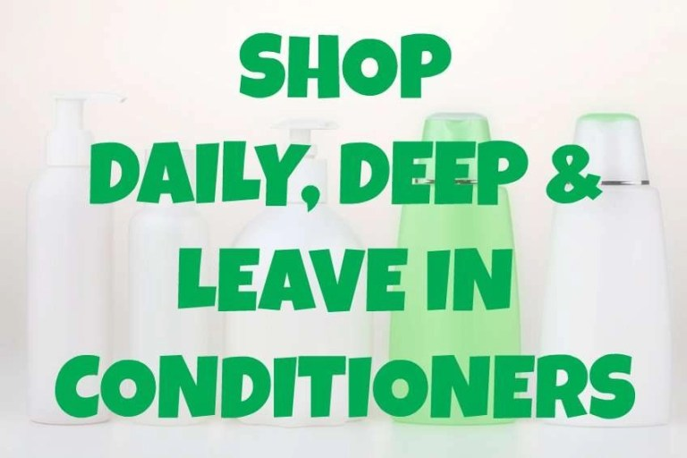 shop daily, deep and leave in conditioners for hair