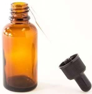 amber bottle for beauty products