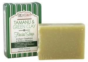 shea terra organics Tamanu & Green Clay Purifying Face & Body Cleansing Bar