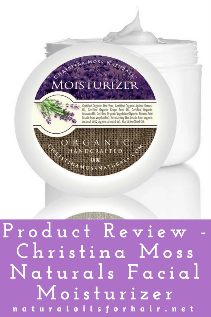 Product Review - Christina Moss Naturals Facial Moisturizer