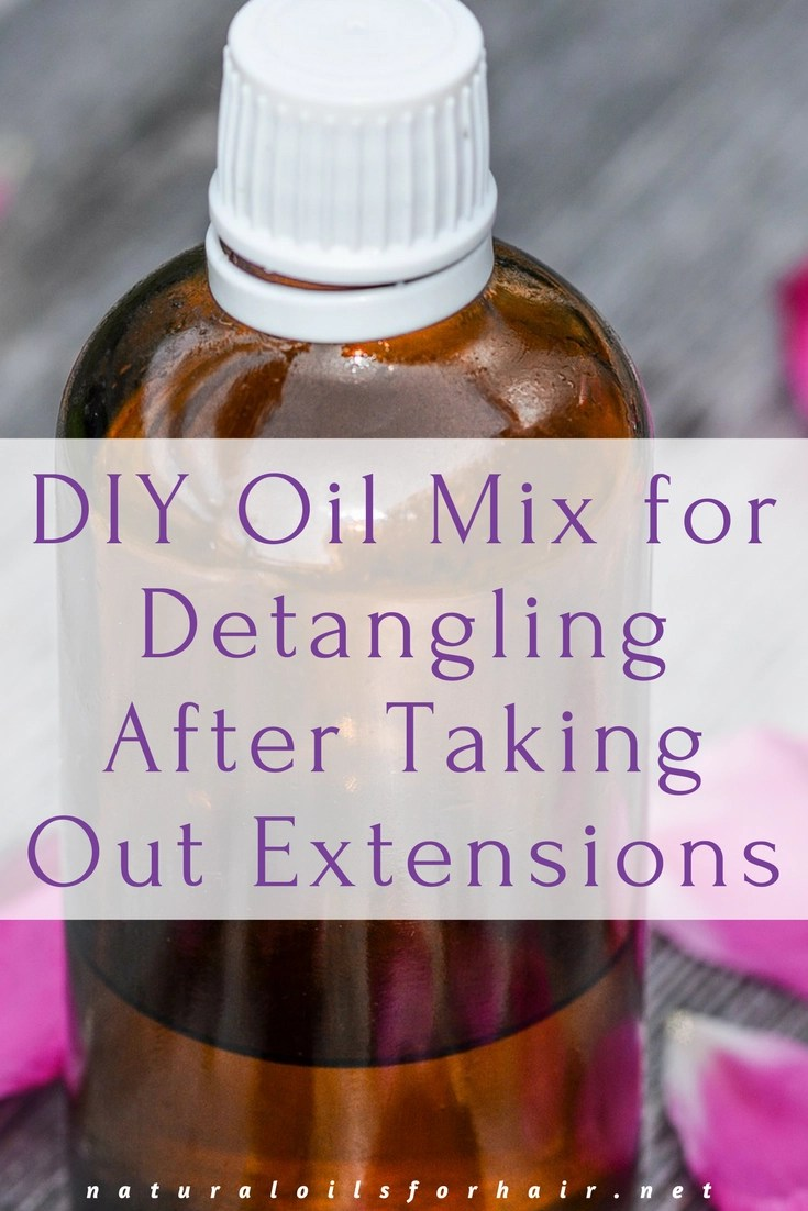 DIY Oil Mix for Detangling After Taking Out Extensions