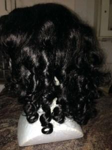 bendy rollers set on human hair wig