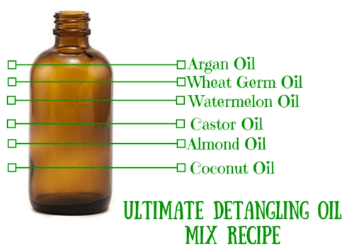 easy detangling oil mix