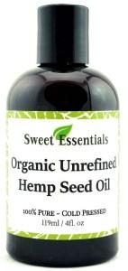 Sweet Essentials Organic Unrefined Hemp Seed Oil