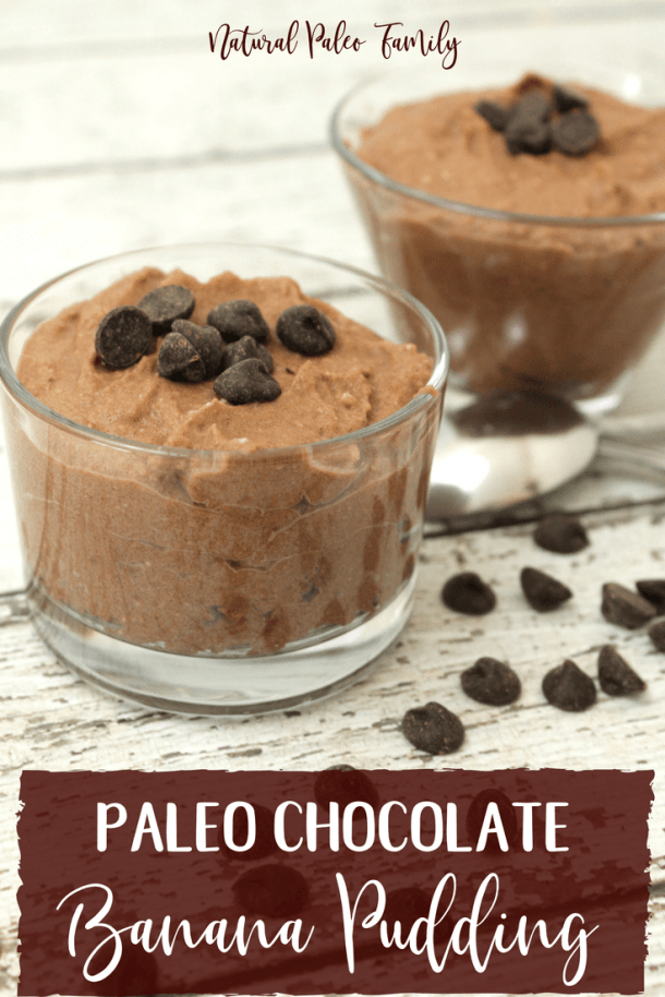 Who's looking for a delicious paleo dessert recipe? This paleo chocolate banana pudding will use up all of those old bananas, and make a healthy, junk-food-free pudding that will be sure to WOW your kids!