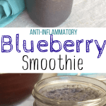 I was so excited when I found an easy breakfast smoothie that would help fight inflammation as well. With an autoimmune disease, it's not easy to keep inflammation levels down! And this anti-inflammatory blueberry smoothie recipe is totally delish too!