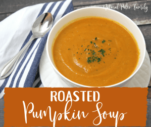 Autumn doesn't have to only mean unhealthy foods and pumpkin coffees. Try this roasted pumpkin soup recipe, it's seasonal, healthy, and delicious!