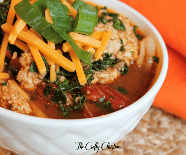 Taco night is always something to look forward to, unless you can't eat corn or flour shells anymore. What's left? Gut-healing taco soup of course!