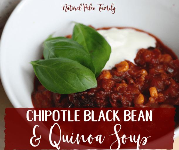 Chipotle Black Bean Quinoa Soup {Recipe}