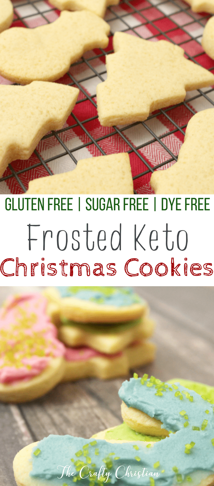 Want to indulge in a little bit of Christmas spirit without completely derailing your healing? Look no further than these Frosted Keto Christmas Cookies to hit the spot without making you hit a wall! #ketocookies #ketodessert #ketochristmas #glutenfree #paleo