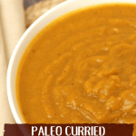 One thing that I never thought I'd miss once starting Wahls Paleo Plus was Indian food. But, my husband requested curry one night, I jumped at the chance to create a healthy, curry flavored meal that would still be something we could eat regularly; and so, curried butternut squash soup was born.
