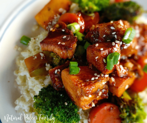 This paleo stir-fry is amazing with its Hawaiian flare and healthy ingredients. It'll immediately wow your family and your body as well!