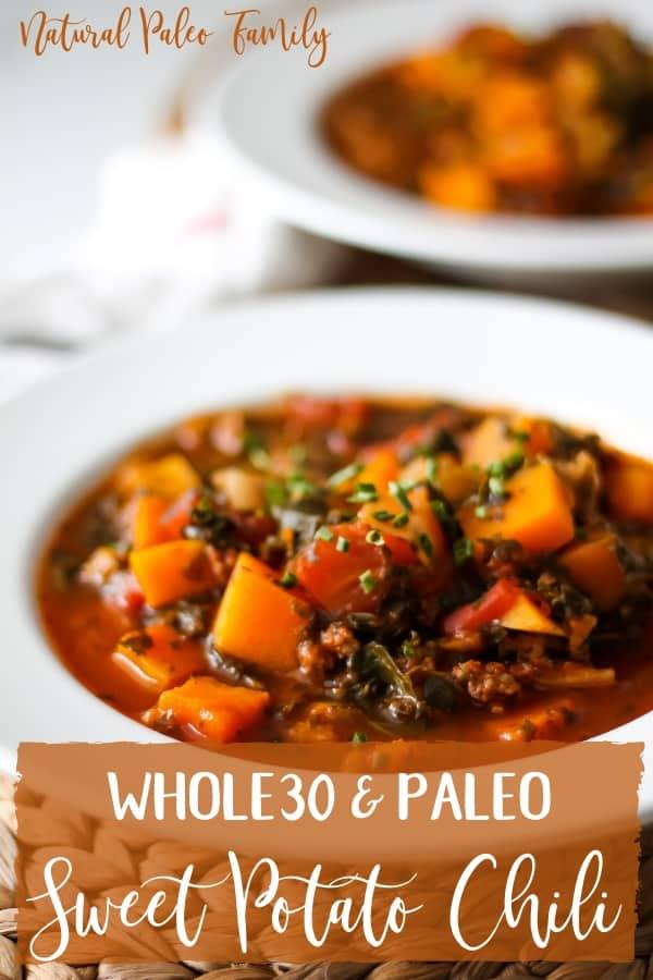 white bowls with sweet potato chili