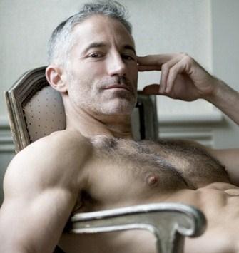Older naked male models