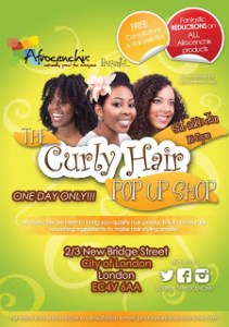 Curly Hair Pop Up Shop Event