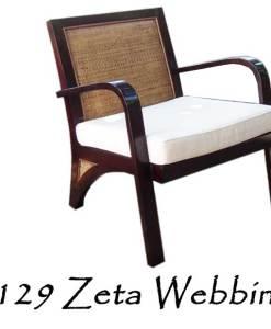 Zeta Woven Webbing Arm Chair