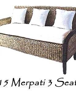 Merpati Wicker Sofa 3 Seater