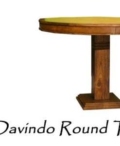 Davindo Wooden Round Table