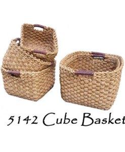 Cube Wicker Basket