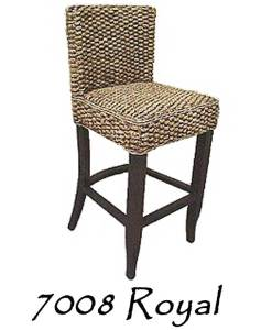 Royal Wicker Barstool