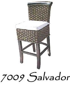 Salvador Wicker Barstool