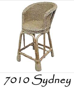Sidney Wicker Bar Stool