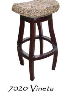 Vineta Rattan Bar Stool