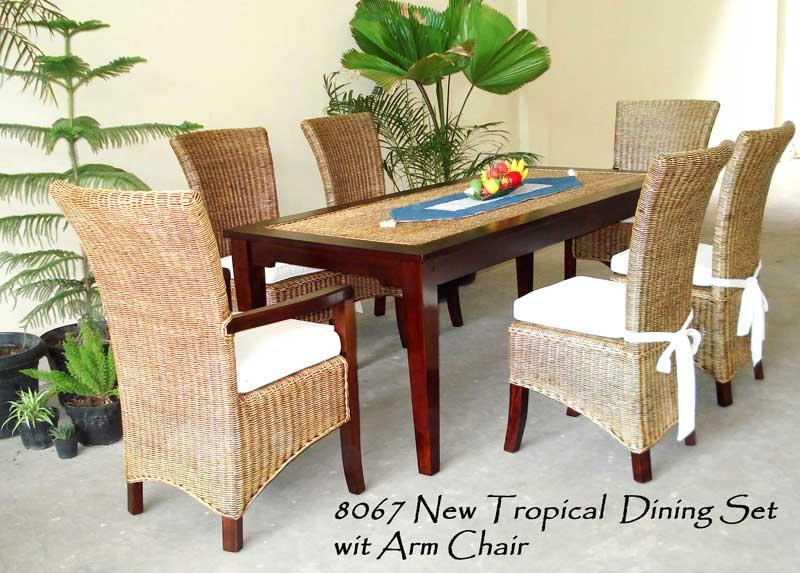 New Tropical Rattan Dining Set