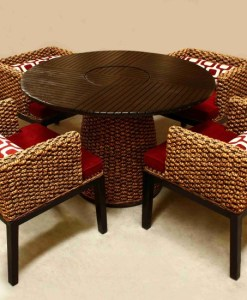 Surya Wicker Dining Set
