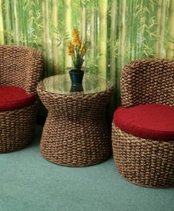 Clifor Wicker Living Set