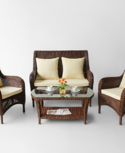Hemlock Rattan Living Set