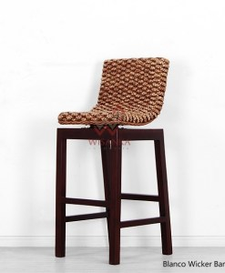 Blanco Wicker Bar Chair