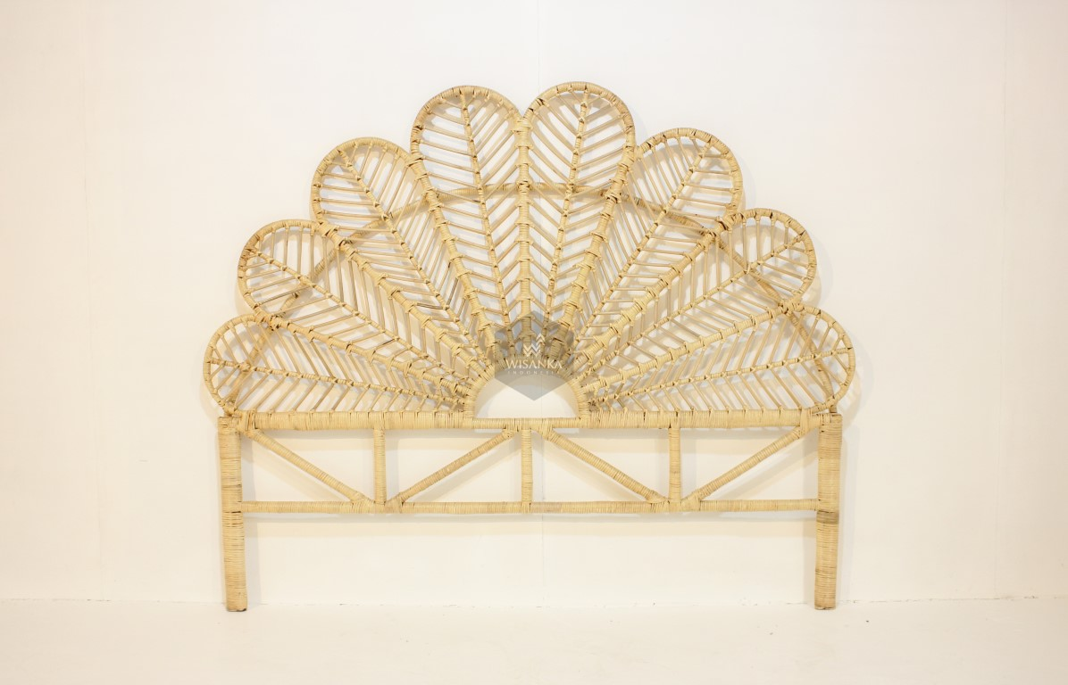 petal rattan headboard king natural rattan furniture wholesale supplier rattan kids furniture