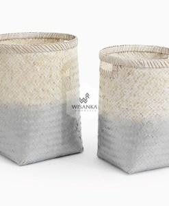 Round Laundry Gradasi Bamboo Basket