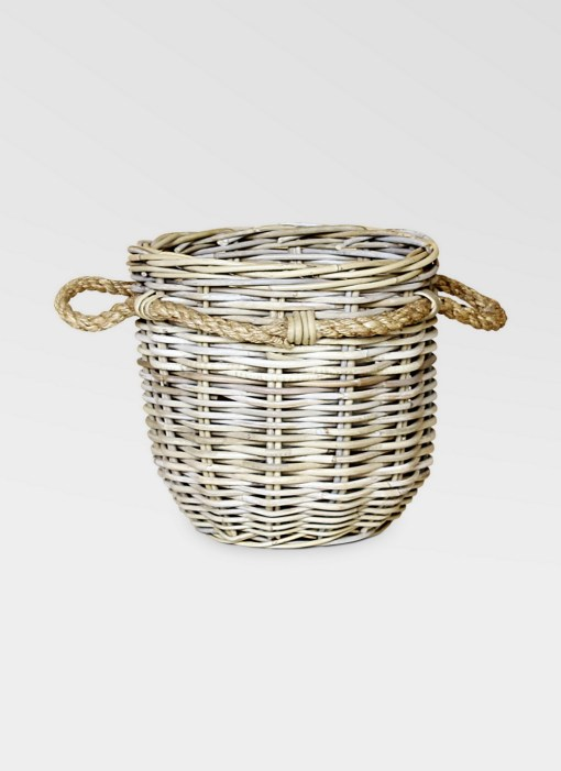 Dabo Rattan Round Basket
