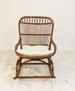 Monet wicker rotan schommelstoel