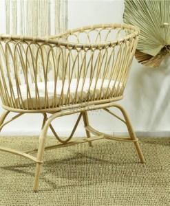 Rice Rattan Baby Crib