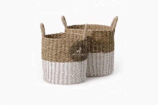 Savira Wicker Round Basket