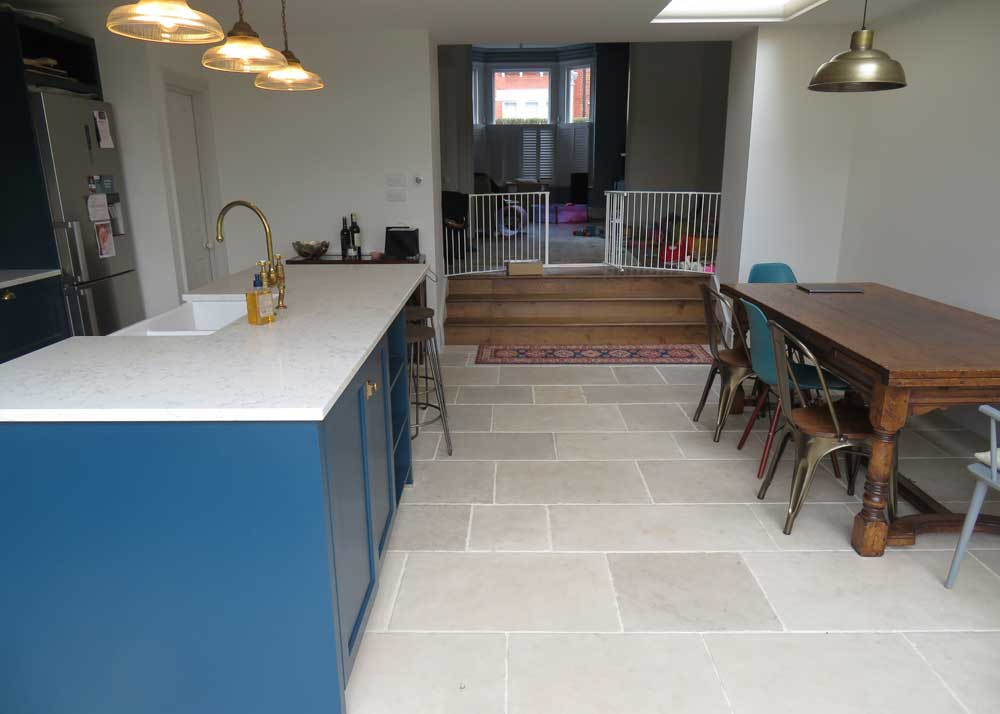 Delicieux Limestone Is Proving More And Por For A Stone Kitchen Floor